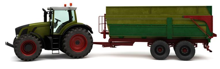 Traktor mit einem Ladewagen