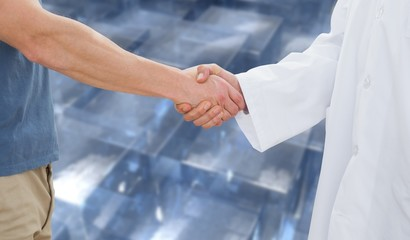 Composite image of handshake