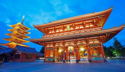Keuken foto achterwand Tokyo Sensoji Asakusa temple Tokyo largest Buddhist temple