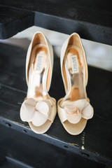 wedding shoes is ready for bride's best day
