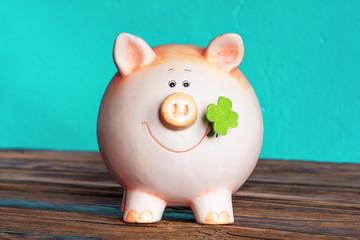 Vintage pig moneybox