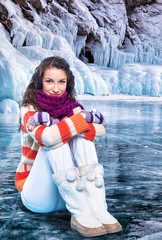 Young woman on ice