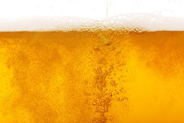 Beer bubbles, macro view