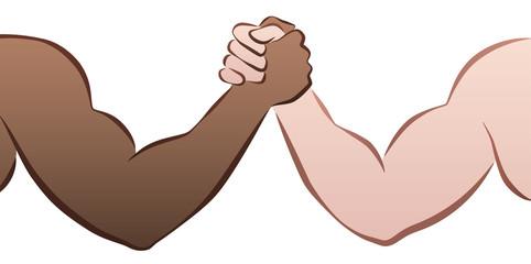 Interracial Arm Wrestling