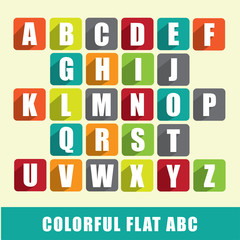 Alphabet - ABC with colorful flat design