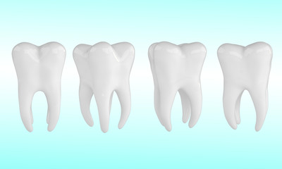 Health Tooths on blue background