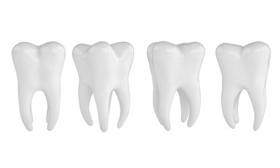 Health Tooths on white background