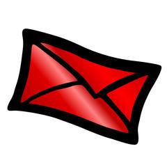 roter Briefumschlag - Kontakt