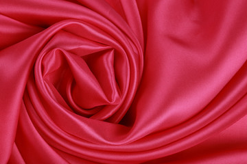 red silk folded rose