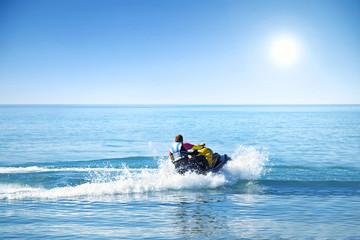 Jet ski sport in summer