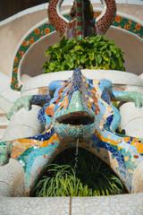 Dragon salamandra of gaudi mosaic