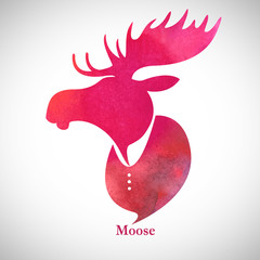Moose_head_Watercolor_silhouette