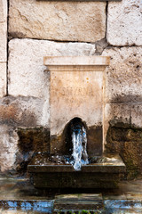 Smyrna, ancient fountain in the Agora, Izmir