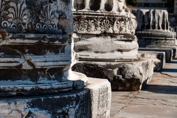 Columns friezes. Temple of Apollo, Turkey