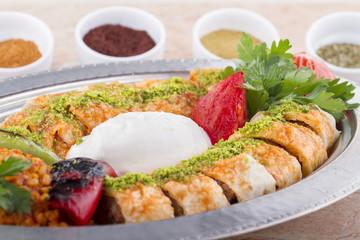 Turkish, Arabian and Greek Traditional Kebab Adana, Urfa, Beyti