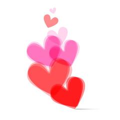 Transparent Vector Hearts Set