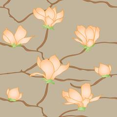 Sakura flowers vector seamless abstract pattern