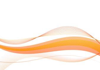 bright shining orange swoosh waves lined motion