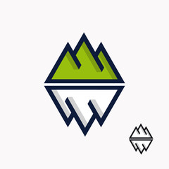 Logo of the mountain and iceberg