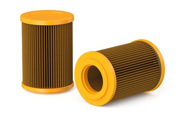 orange car air filter