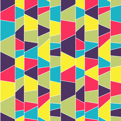 Abstract mosaic pattern. Seamless vector. Colorful backdrop.