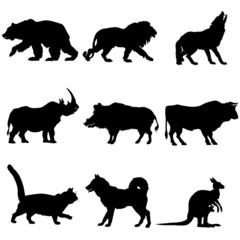 Domestic and wild animals clipart