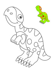 coloring book with a dinosaur