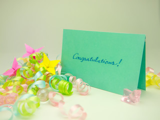 Massage Card; Congratulations!