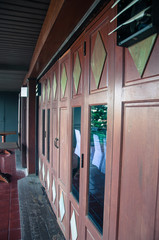 Wooden window for thai house style