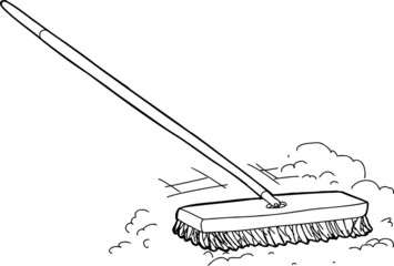 Outline Broom with Dirt