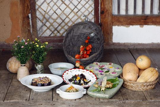 가을꽃 요리