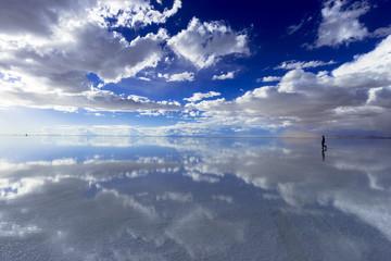 Wall Mural - ミラーレイク・ウユニ塩湖の絶景