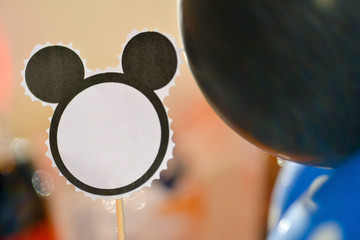 Table card shaped Mickey Mouse