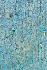 Texture of the old boards painted in blue color.
