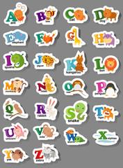 animal alphabet letter a-z