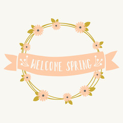 Welcome Spring Greeting Card Template