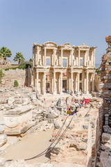 Archaeological site of Ephesus. Celsus Library, 114 - 135 y. AD