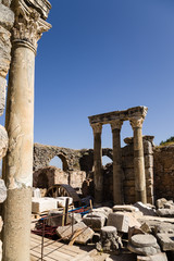 Ephesus, Turkey. Ancient ruins in the archaeological area