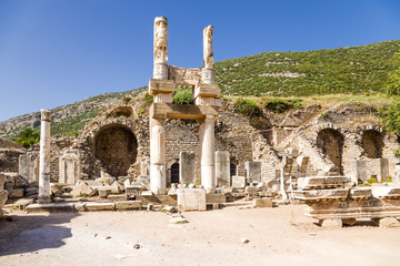 Ephesus. Ruins of a temple of the emperor Domitian, 81 - 96 AD