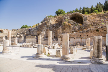 The ruins of Ephesus, Turkey. (UNESCO tentative list)