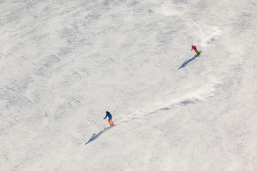Two Fast Skiers