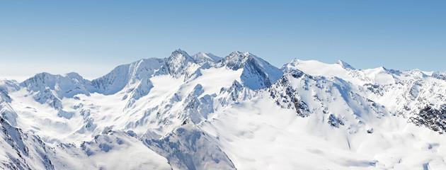 Panoramic Alpine Mountain View