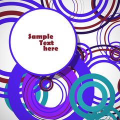 Circles abstract illustration