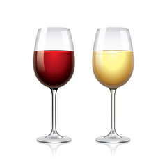 Glass of wine isolated on white vector