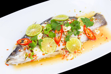 sea Bass with spicy sauce