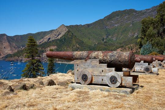 Historic Fort on Robinson Crusoe Island