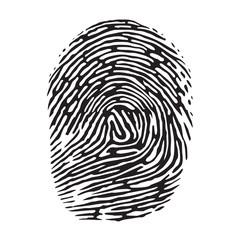 Vector black isolated fingerprint