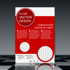 Brochure cover vector template.
