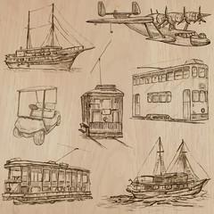 Transport pack - Hand drawn vectors, line art