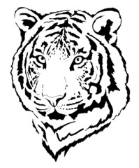 tiger head in black interpretation 5